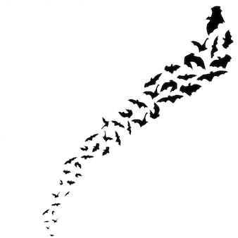 Fliegende fledermaus silhouette halloween