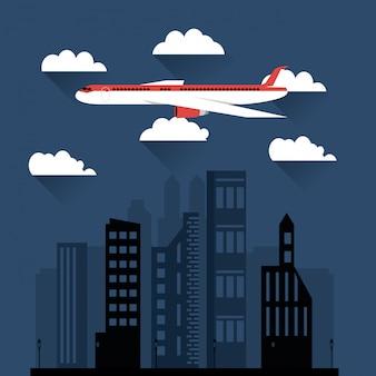 Fliegende flugzeug bild