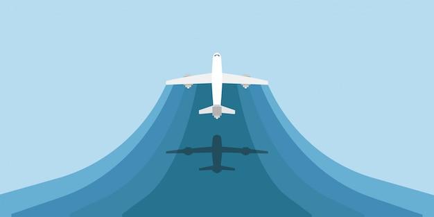 Fliegende flugzeug illustration