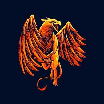 Fliegende griffin monster illustration