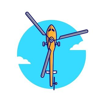 Fliegende hubschrauberillustration