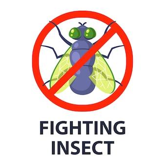 Fliegende insekten zerstören.