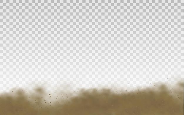 Fliegende sandstaubwolke
