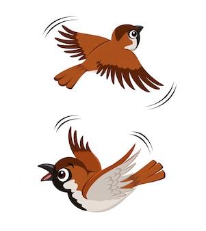 Fliegende spatzillustration