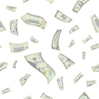 Fliegende us-dollar nahtlose muster