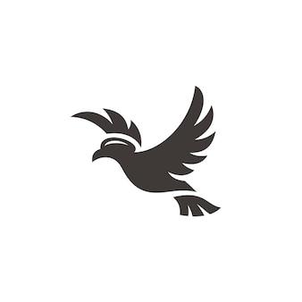 Fliegende vogel taube taube flügel verbreiten symbol logo design
