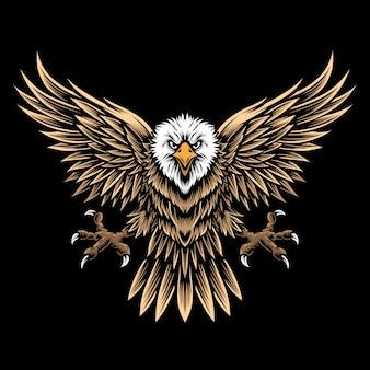 Fliegender adler und logo