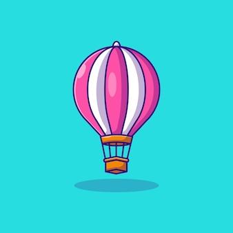 Fliegender heißluftballonvektor-illustrationsdesign