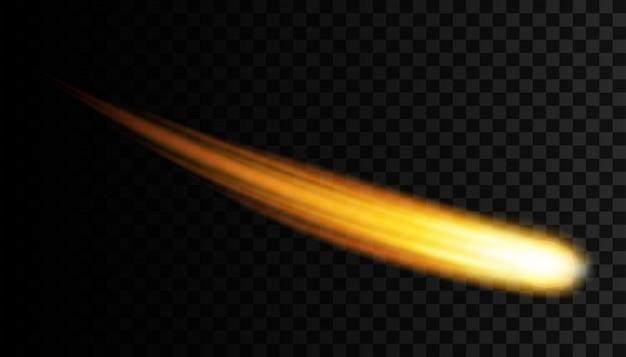 Fliegender kosmischer meteor