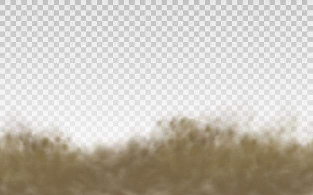 Fliegender sand auf transparentem hintergrund