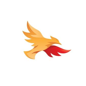 Fliegender vogel-logo