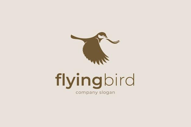 Fliegender vogel logo.