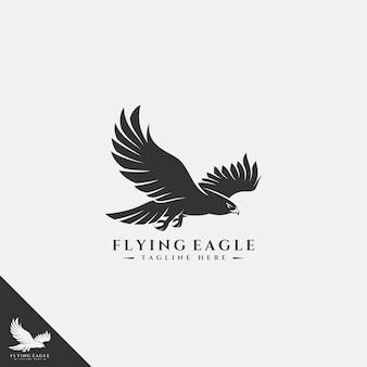 Fliegendes eagle logo