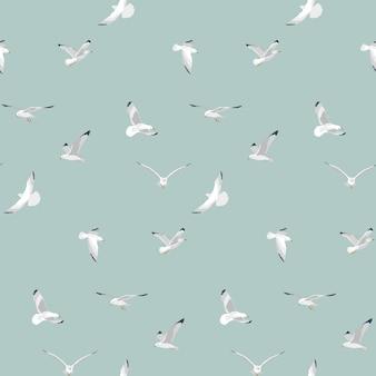 Fliegendes meeresmöwenmuster