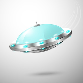Fliegendes ufo-emblem