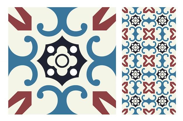 Fliesen portugiesische muster antikes nahtloses design