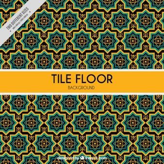 Fliesenboden mit gelben details