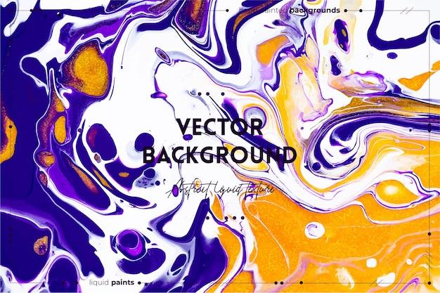 Fließende kunstbeschaffenheit. abstrakter wirbelnder farbeffekt. flüssige acrylgrafik mit schönen gemischten farben.