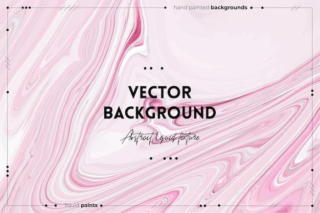 Fließende kunstbeschaffenheit. hintergrund mit abstraktem mischfarbeneffekt. rosa, graue und weiße überfließende farben.