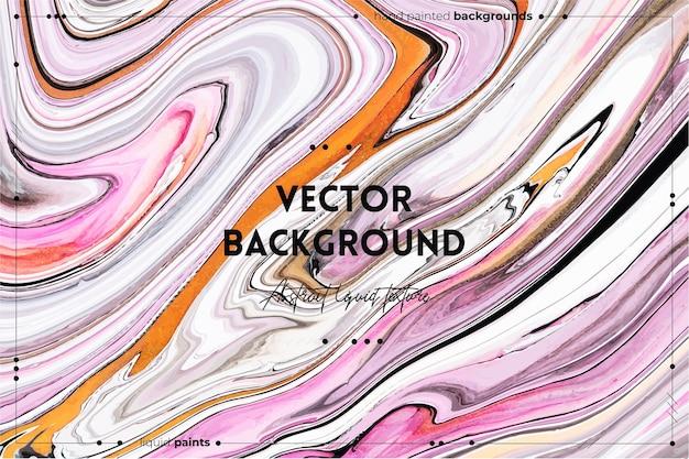 Fließende kunstbeschaffenheit. hintergrund mit abstraktem wirbelndem farbeffekt. flüssiges acrylbild mit flüssen und spritzern.