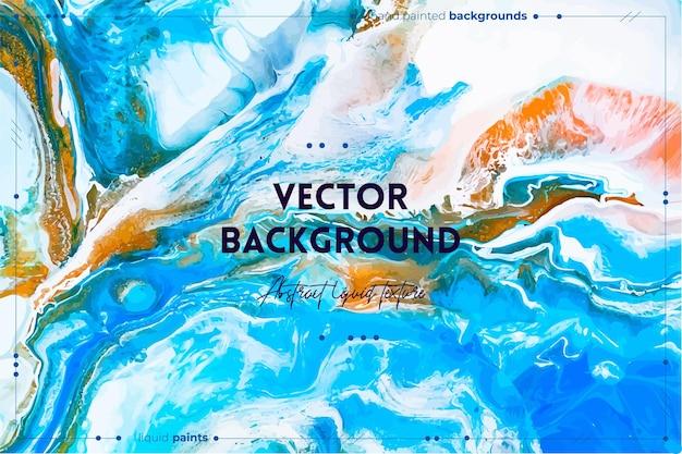 Fließende kunsttextur mit abstrakt schillerndem farbeffekt. flüssiges acrylbild mit schönen mischfarben.