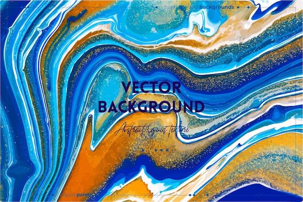 Fließende kunsttextur mit abstraktem mischfarbeneffekt. flüssiges acrylbild, das fließt und spritzt.