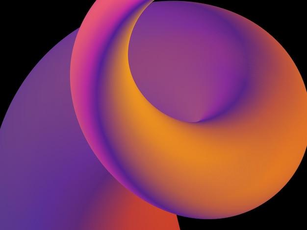 Fließende tapete mit farbverlauf in gewelltem design-ed-vektor