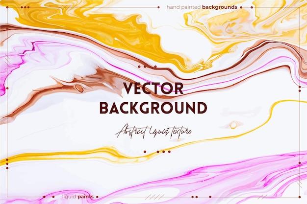 Fließende textur. abstrakter mischfarbeneffekt. flüssiges acryl mit schönen mischfarben.