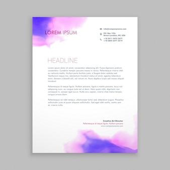 Fließende tinte corporate briefpapier broschüre