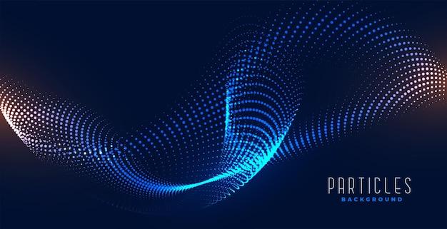Fließender digitaler partikel abstrakter wellenhintergrund