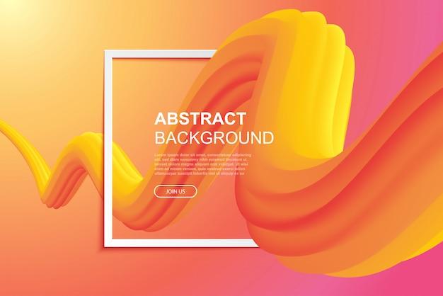 Fließendes abstraktes kurvendesign auf gradientenhintergrund.