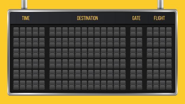 Flip anzeigetafel, ankunft flughafen board alphabet.