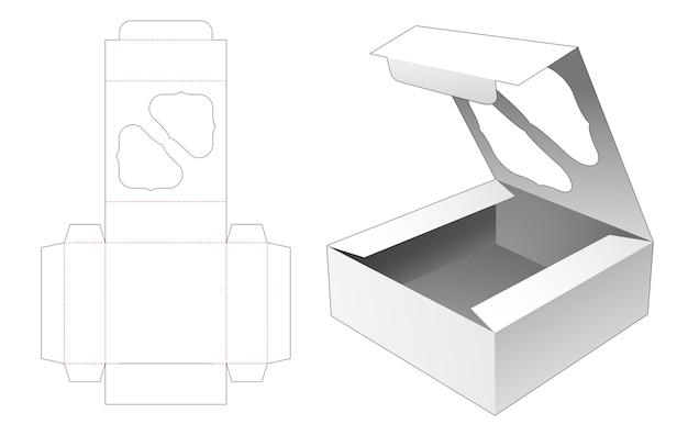 Flip bekery box mit gestanzter vorlage für das obere fenster