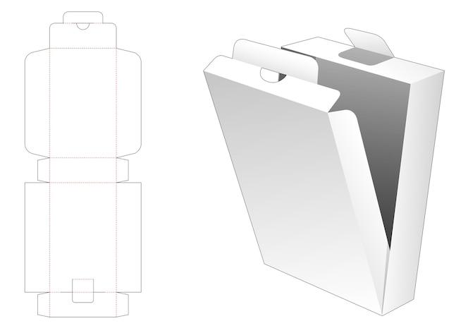 Flip-box-box gestanzte vorlage