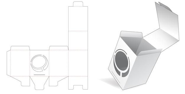 Flip-box mit versteckter münzfenster-stanzschablone