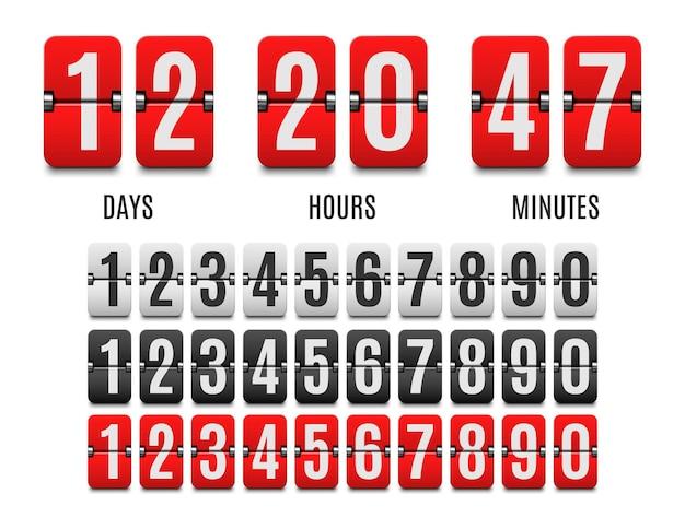 Flip-countdown-taktzähler countdown-flip-board