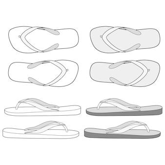 Flip flop lineart design