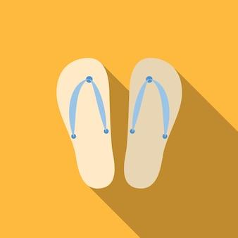 Flip-flops flachbild symbol isoliert vektor-zeichen-symbol