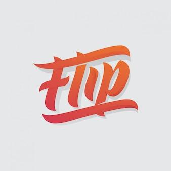 Flip-schriftzug
