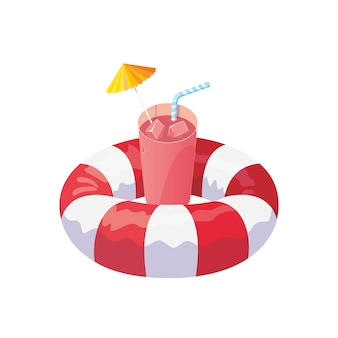 Float life guard und sommercocktail