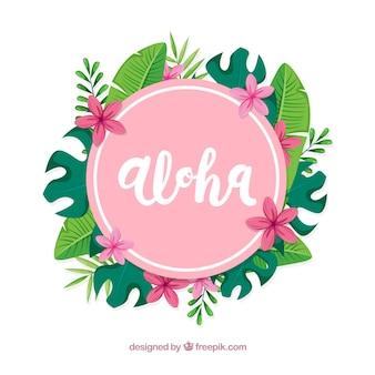 Floral aloha hintergrund