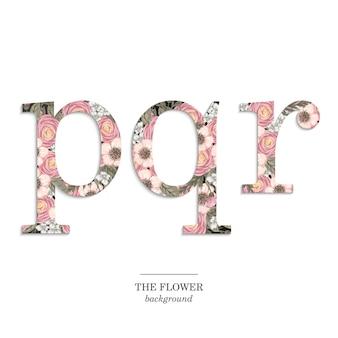 Floral alphabet gesetzt