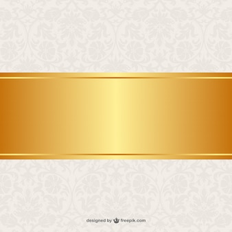 Floral background golden banner-design