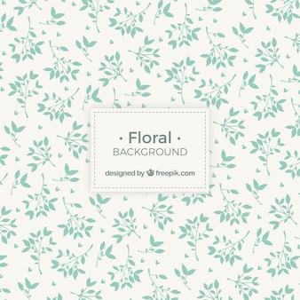 Floral blatt silhouette hintergrund