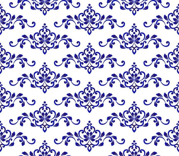 Floral blaues muster