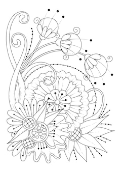 Floral botanical malvorlagen illustration