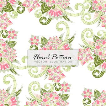 Floral bouquet vektor-muster