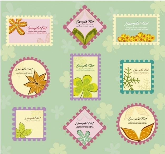 Floral briefmarken