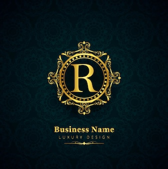 Floral business-logo hintergrund