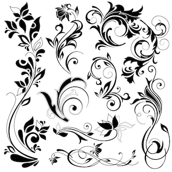 Floral dekorative elemente